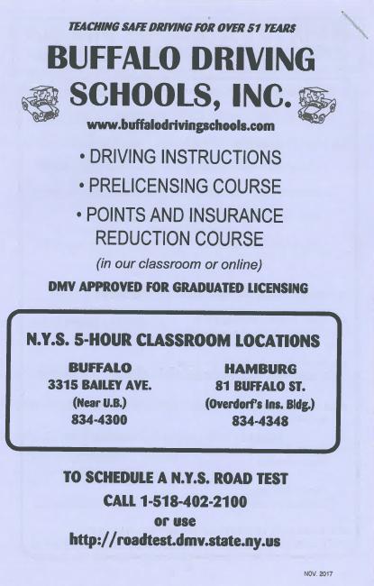 5 Hour Pre Licensing Course Buffalo Hamburg Ny Buffalo Driving School